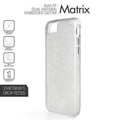 Skech Matrix Protective Clear Glitter Case for iPhone 7 Plus 6 Plus6s Plus compatible  Snow Sparkle *** Details can be found by clicking on the affiliate link Amazon.com.