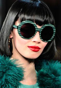 Sunglasses at Diane von Furstenberg F/W 2011, New York Fashion Week