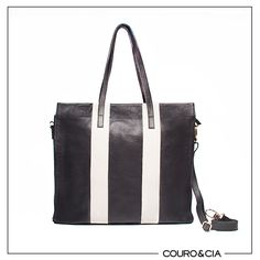 Shopping Bag Preta e Branca Ref: B2409