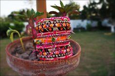 Thread Bangles, Mornings, Wedding Jewelry, Creativity, Handmade Jewelry, Colorful, Models, Jewellery, Embroidery