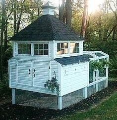 Chicken coops Built this one last year , not quite as detailed but the same plan.