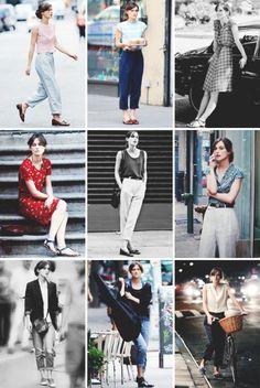 """Fashion inspiration (movie edition):Keira Knightley as Greta in """"Begin Again"""""""
