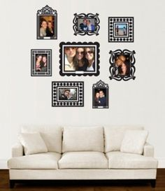 Picture Display Ideas: Peel and stick frames, stick picture to frame, stick frame to wall