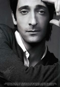 "Adrien Brody - Best Actor Academy Award for ""The Pianist. Adrien Brody, Gorgeous Men, Beautiful People, Raining Men, Attractive Men, Good Looking Men, Famous Faces, Movie Stars, Famous People"