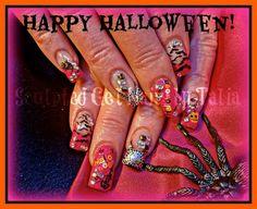 by gelnailzbytalia from Nail Art Gallery Happy Halloween, Halloween Tips, Nail Art Galleries, Nails Magazine, Nails Inspiration, Bling, Beauty, Nailart, Art Gallery