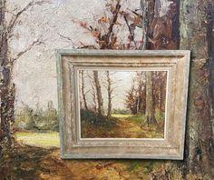Wundervoller plain air Impressionist aus Frankreich. Antik Ölgemälde, signiert