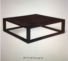 Oversized 60x60 Coffee Table Family Room Pinterest