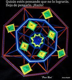 "Mandala tejida. Nombre ""Pavo Real"""