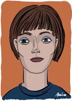 FACE 4 02/2016 copyright Aliisa Ahtiainen (iPad Pro, Apple Pencil, Procreate) Ipad Pro, Drawings, Illustration, Anime, Pencil, Face, Characters, Illustrations, Sketch