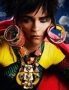 Model: Carmen Kass  Magazine: Vogue UK May 2012  Shoot: Mario Testino