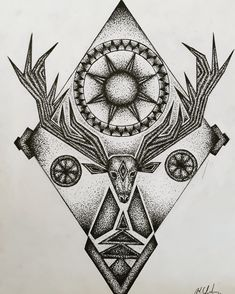 Self Design, Mandala Design, Deer, Cards, Maps, Playing Cards, Reindeer
