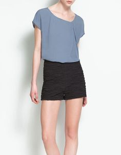 Zara top - Super cute! I like the idea of pairing it with a pair of black shorts too!