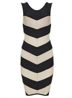 Vida Metallic Chevron-Stripe Dress H284 @Ivano Bellini @megan parker @Amy Coe @Pinner @Designer for Sure (by Puja Wahi)