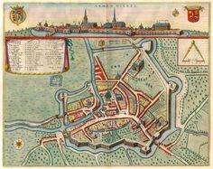 Carte Armentières,  1649