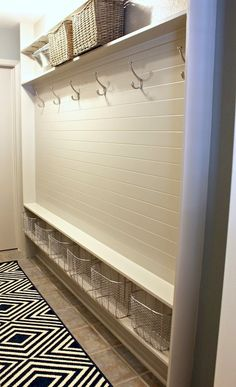 Organised hanging space and shoe storage