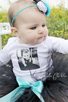 """This matches the """"Audrey Hepburn"""" dress for the older sister :) so cute!"""