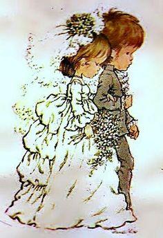 Florynda del Sol ღ☀¨✿ ¸. Wedding Book, Wedding Cards, Sara Kay, Baby Deco, Retro Images, Sweet Pic, Holly Hobbie, Australian Artists, Cute Illustration