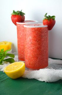 Bourbon Strawberry Slushies 1