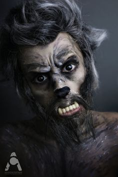 halloween werewolf make up