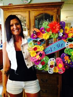 Embellished Flip-flop Wreath