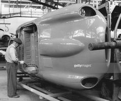 E Type Jag on the Browns Lane production line...