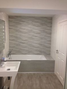 Bathroom shower tile neutral tubs new Ideas tile ideas neutral Bathroom shower tile neutral tubs new Ideas Neutral Bathroom Tile, Best Bathroom Tiles, Bathroom Tile Designs, Modern Bathroom, Bathroom Ideas, Bathroom Flooring, Textured Tiles Bathroom, Neutral Bathrooms Designs, Shower Ideas
