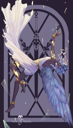 ArtStation - 3 of Swords, Noa Ikeda Fantasy Kunst, Fantasy Art, Pretty Art, Cute Art, Anime Kunst, Anime Art, Ange Demon, Fantasy Paintings, Character Design Inspiration