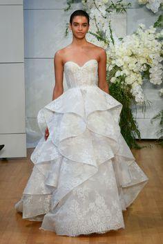 eb4dcb28355 Monique L Huillier 2018 wedding dress