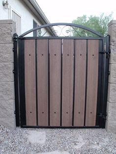 137 best cool wrought iron wood gates and fences images wood gates rh pinterest com