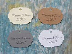 Étiquettes cadeaux de mariage, étiquettes cadeaux personnalisées «Modèle E» de la boutique Lamainalacarte sur Etsy
