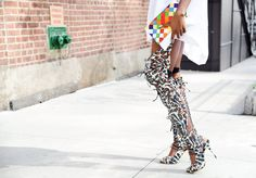 A colorful combination at #NYFW