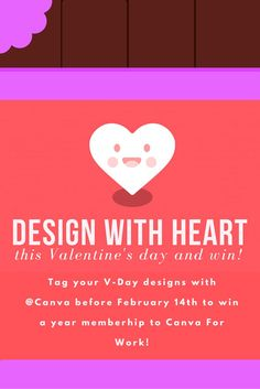 CANVA V-DAY DESIGN CHALLENGE- Rules: 1. Create a design using one of our heart shapes. 2. Upload and tag us (@canva) on Pinterest. Winner gets a year membership to Canva for Work! Submit before February 14th! May the most creative design win! <3