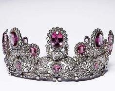 Rose topaz and diamond tiara of Princess Marie of Wurttemberg