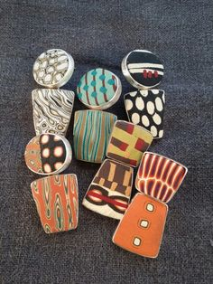 polymer earrings by e-bu Jewelry. Available at JOGS, Tucson, Jan. 26 to Feb. 6