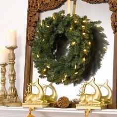 """GKI Bethlehem Lighting 24"""" Knoll Christmas Wreath with Led Lights - http://www.christmasshack.com/christmas-wreaths/gki-bethlehem-lighting-24-knoll-christmas-wreath-with-led-lights/"""