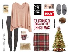"""""""Home For The Holidays"""" by jax2207 ❤ liked on Polyvore featuring Ragdoll, Williams-Sonoma, MANGO, Sixtrees, General Foam, Oliver Gal Artist Co., Casetify, Natori, Yankee Candle and Torn Ranch"""