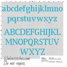 Cross stitch alphabet uppercase and lowercase letters for names with Squirtle Po… - Kreuzstich Cross Stitch Letter Patterns, Cross Stitch Letters, Cross Stitch Charts, Cross Stitch Designs, Cross Stitch Font, Pokemon Cross Stitch, Alphabet A, Embroidery Alphabet, Embroidery Patterns