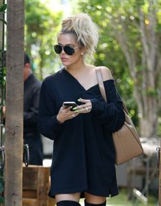 """daiilycelebs: """" 8/5/16 - Khloe Kardashian out for lunch in Woodland Hills. """""""