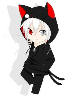 Anime For > Chibi Anime Boy With Hoodie