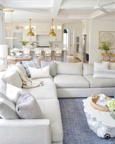 Home Interior Decoration .Home Interior Decoration New Living Room, Home And Living, Living Room Decor, Living Spaces, Coastal Living Rooms, Living Room With Sectional, Sectional Sofas, Hamptons Living Room, Dining Room