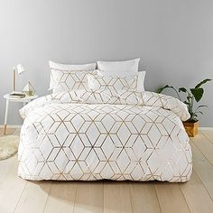 Fantastic bedspread solutions from Target. This great Harlow quilt cover set consists of a quilt cover and two 250 thread count pillowcases.Foil print...