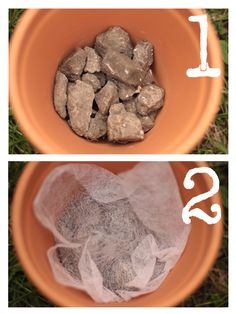 to help with drainage - I've always used rocks at the bottom, but a dryer sheet? Ok! Anything to hold water longer.