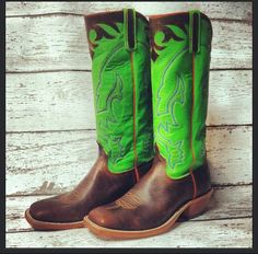 lime green cowboy boots..LOVE them | Lime Green..my favorite color ...