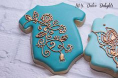 Henna baby shower cookies | Cookie Connection