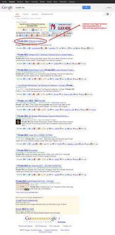 http://private.yayansuryana.co mengajarkan bagaimana Anda bisa melakukan Optimasi sebuah Fanspage Facebook untuk meraih Posisi TOP 10 Google. Dengan Metode SEO ini, maka Anda akan lebih banyak mendapatkan calon Buyer yang lebih Tertarget.