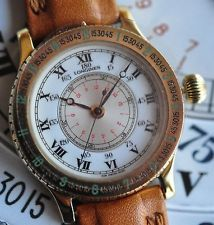 Longines Lindbergh Hour Angle 18K Gold Aviator Watch L2.500.6.11.2