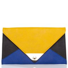Get loud with a colorblocked clutch