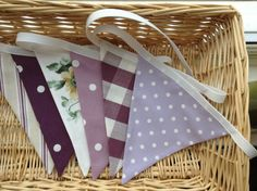 Shades of purple bunting! Contact CliffsCushions@gmail.com Wedding Bunting, Shades Of Purple, Christmas Tree, Decorations, Holiday Decor, How To Make, Home Decor, Teal Christmas Tree, Decoration Home