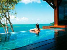 Windward Pavilion Plunge Pool at qualia, Great Barrier Reef in Hamilton Island, Australia Plaza Hotel, Australia Hotels, Australia Travel, Queensland Australia, Australia Honeymoon, Australia Beach, Sydney Australia, Great Barrier Reef, Beach Resorts