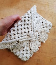 Macrame Clutch Bag, accessories, boho, natural rope – Care – Skin care , beauty ideas and skin care tips